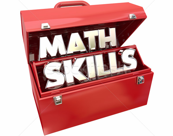Math Skills Learn Education Study Tutoring Red Metal Toolbox 3d  Stock photo © iqoncept