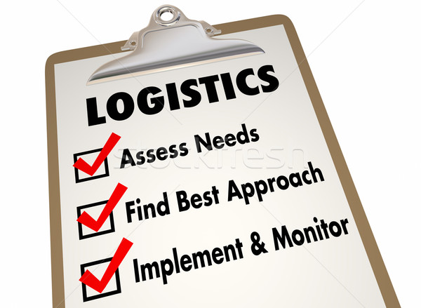 Logistics Clipboard Checklist Manage Shipping Deliveries 3d Illu Stock photo © iqoncept