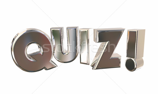 Quiz Test Surprise Contest Questions Game Word 3d Illustration Stock photo © iqoncept