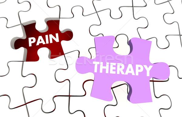 Pain Therapy Words Puzzle Pieces Treatment 3d Illustration Stock photo © iqoncept