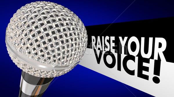 Voce microfono parlare up cantare parlare Foto d'archivio © iqoncept