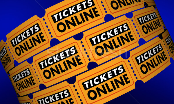 Tickets Online Buy Movie Theater Passes Internet 3d Illustration Stock photo © iqoncept