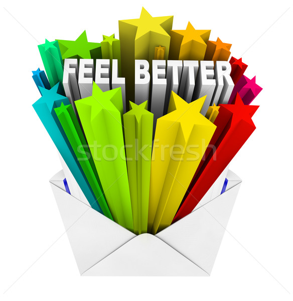 Feel Better Words in Evnelope - Get Well Card Stock photo © iqoncept