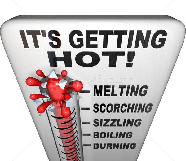 Thermometer - Mercury Rising Bursting - Heat Rising Stock photo © iqoncept