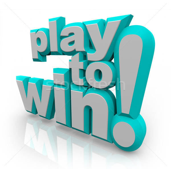 Play to Win 3D Words Determination Positive Attitude Stock photo © iqoncept