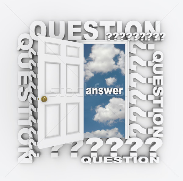 Question and Answer Doorway Stock photo © iqoncept