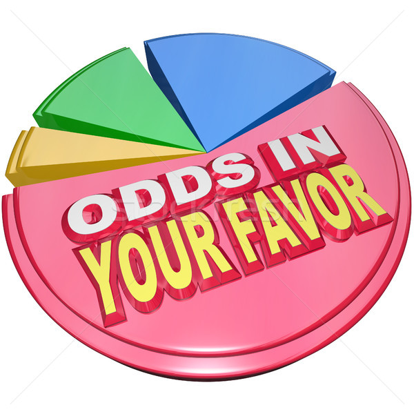 Odds in Your Favor Pie Chart Advantage Competition Stock photo © iqoncept