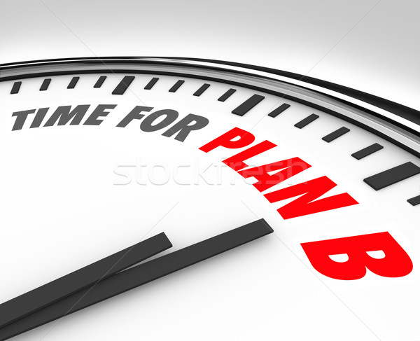 Time for Plan B Clock Rethink Planning Problem Issue Stock photo © iqoncept