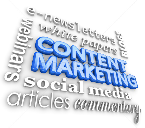 Content Marketing Word 3D Collage Digital Business Communication Stock photo © iqoncept