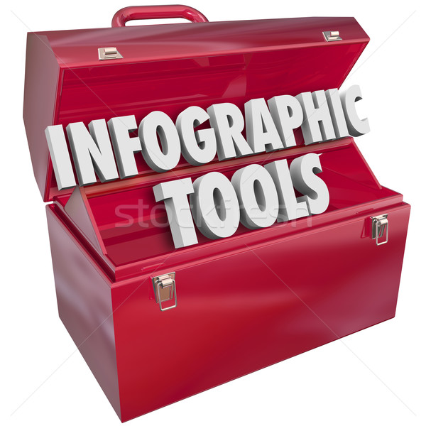 Infographic Tools Toolbox Creating Data Graphs Information Stock photo © iqoncept