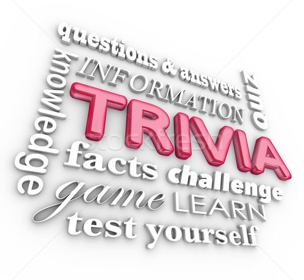 Trivia 3d Word Collage Game Questions Answers Quiz Stock photo © iqoncept