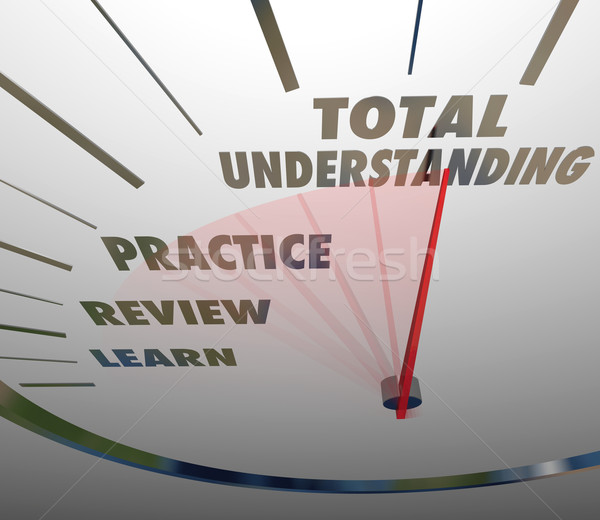Total Understanding Speedometer Measure Learning Education Stock photo © iqoncept