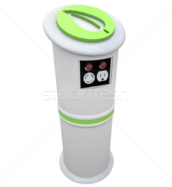 Photo stock: électriques · véhicule · gare · électrique · vert · énergie