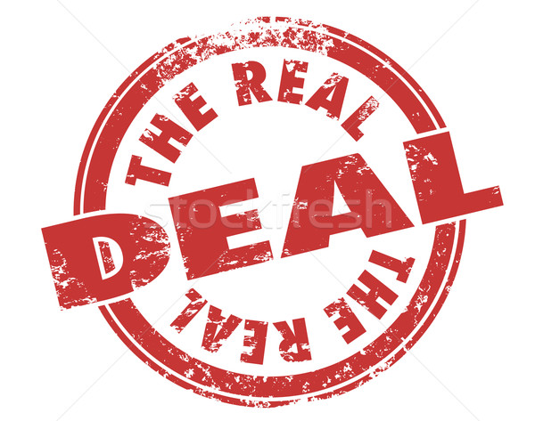 Stockfoto: Echt · deal · Rood · grunge · stempel · authentiek