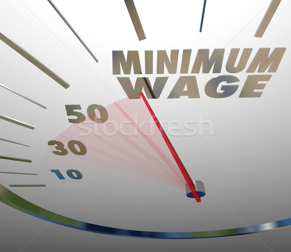 Minimum Wage Speedometer Low Income Job Working Earnings Stock photo © iqoncept