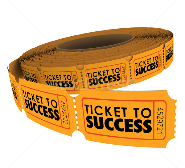 Ticket to Success Raffle Roll Achieve Goal Mission Objective Stock photo © iqoncept