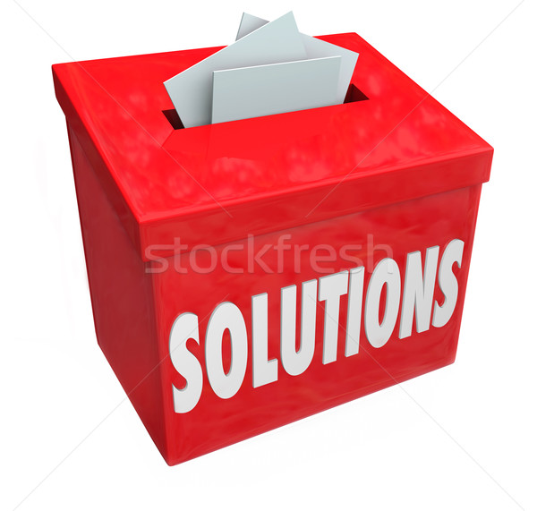 Solutions Collection Suggestion Box Solve Problem Sharing Ideas Stock photo © iqoncept