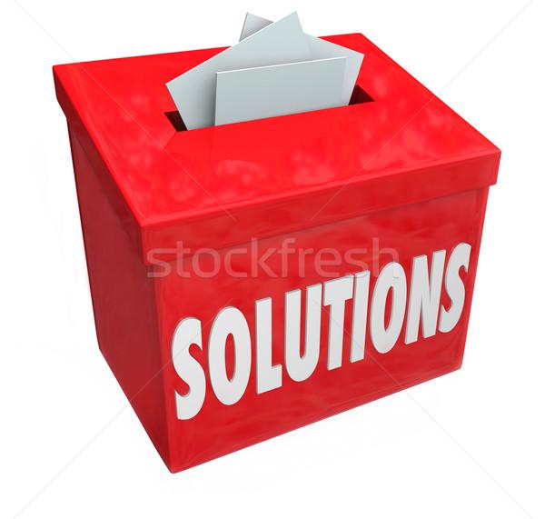 Soluzioni raccolta proposta finestra risolvere problema Foto d'archivio © iqoncept