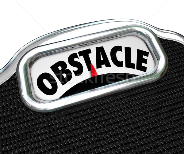 Obstacle Word Scale Lose Weight Diet Challenge Stock photo © iqoncept