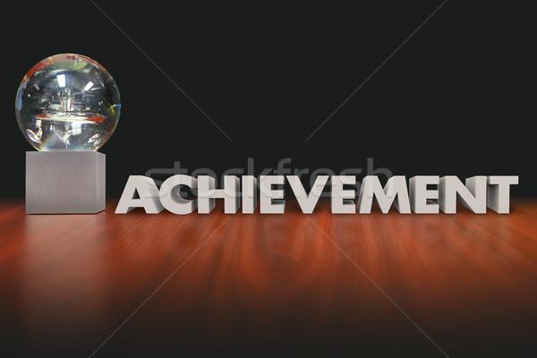 Achievement Word Award Trophy Prize Best Performance Stock photo © iqoncept