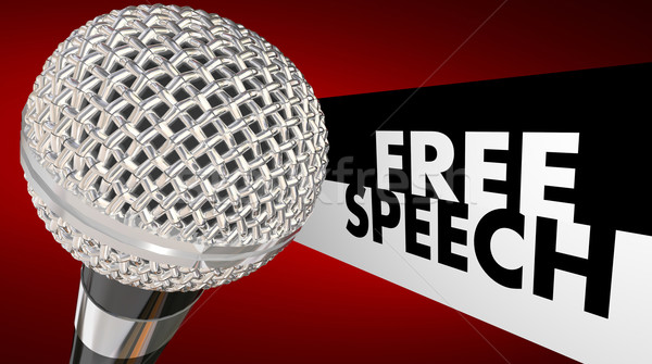 Free Speech First Amendment Right Freedom Expression Microphone  Stock photo © iqoncept