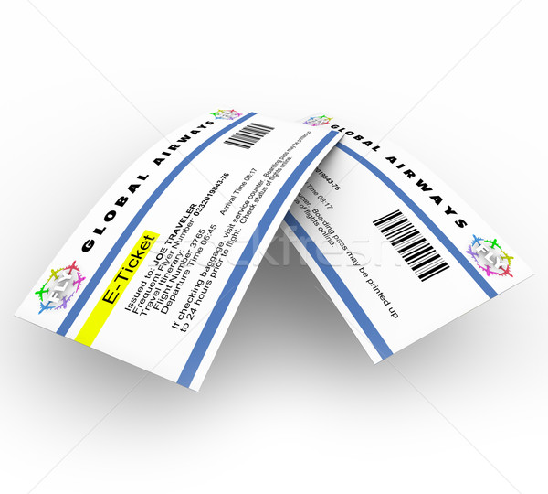 E-Tickets for Air Travel Stock photo © iqoncept