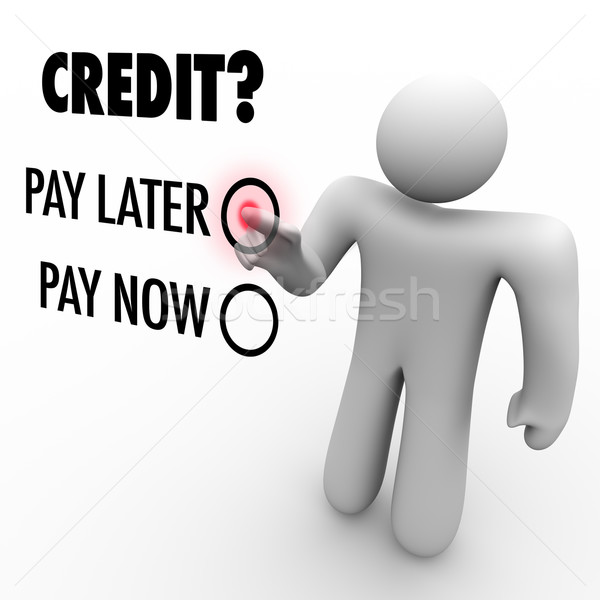 Choose Credit to Pay Later vs Now - Borrowing Money Stock photo © iqoncept