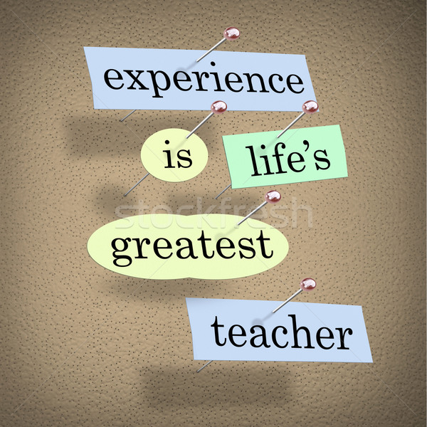 Experience Life's Greatest Teacher - Live for Education Stock photo © iqoncept