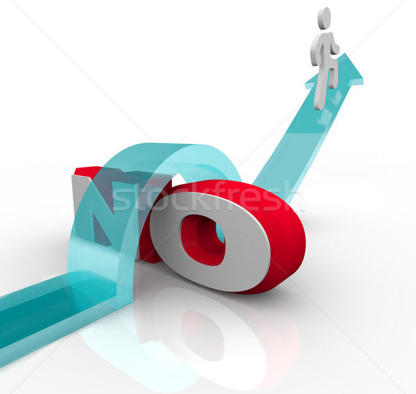 Getting Over No Overcoming Objection to Win Stock photo © iqoncept