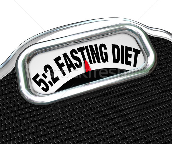 5:2 Fasting Diet Words on Scale Lose Weight Stock photo © iqoncept