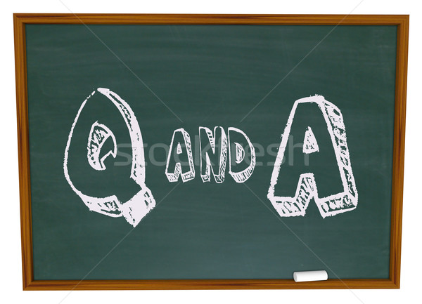 Questions and Answers - Chalkboard Stock photo © iqoncept