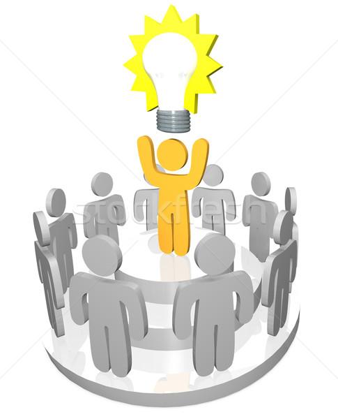 Stock photo: Presenting the Big Idea