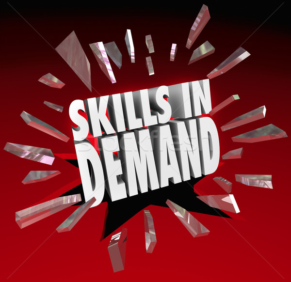 Skills in Demand 3D Words Needed Experience Stock photo © iqoncept