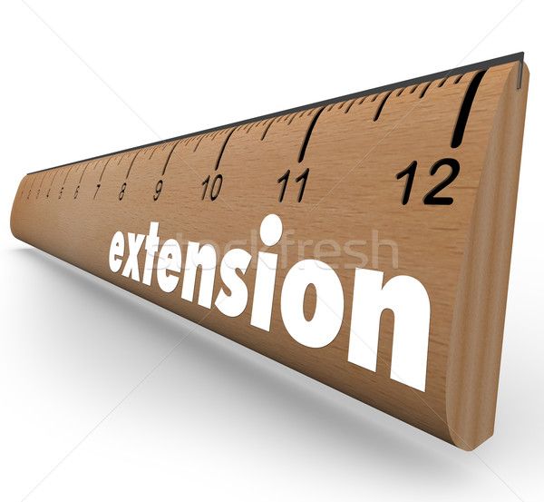 Extension Ruler Measure More Length Added Time Stock photo © iqoncept