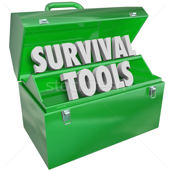 Survival Tools Toolbox Skills Knowledge How to Survive Stock photo © iqoncept