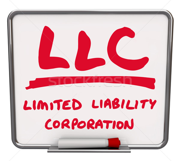 LLC Limited Liability Corporation Words Dry Erase Board Marker Stock photo © iqoncept