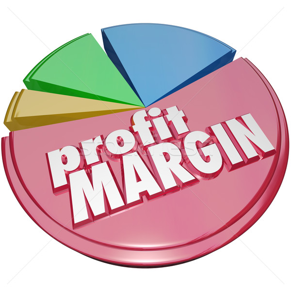 Profit Margin Pie Chart Making Money More Revenue Growth Increas Stock photo © iqoncept
