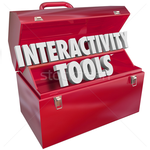 Interactive Tools Words in 3d Letters Toolbox Working Together Stock photo © iqoncept