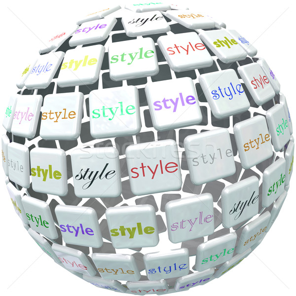 World of Style Ball Sphere Different Unique Diverse Designs Stock photo © iqoncept