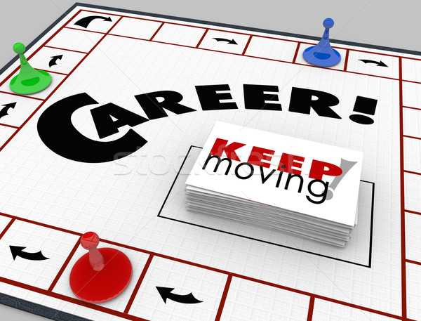 Career Board Game Keep Moving Advancing Promotion  Stock photo © iqoncept