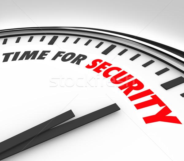 Zaman güvenlik sözler saat güvenlik risk Stok fotoğraf © iqoncept