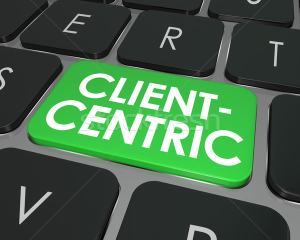 Client Centric Words Computer Keyboard Button Internet Business  Stock photo © iqoncept