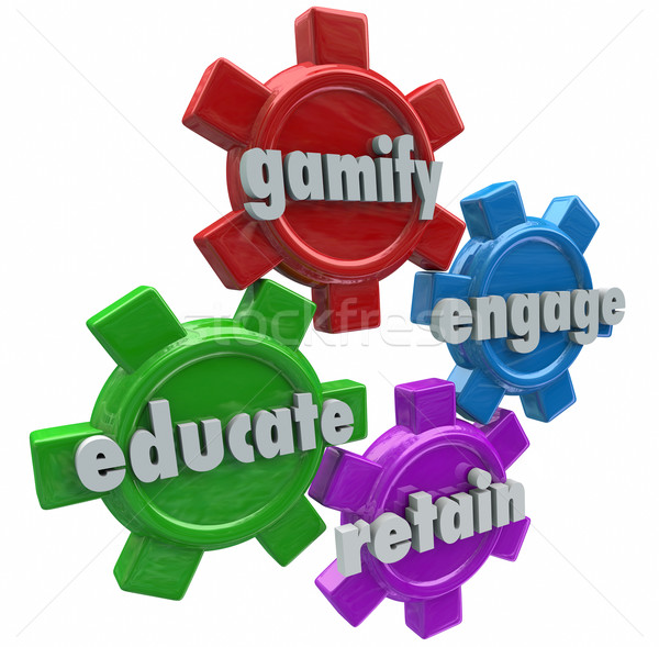 Gamify Engage Educate Retain Customers Students with Games Stock photo © iqoncept