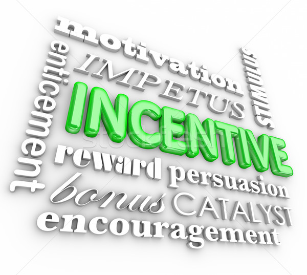 Incentive 3d Word Background Motivation Rewards Encouragement Stock photo © iqoncept