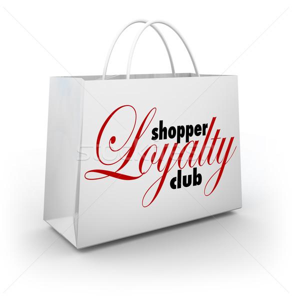 Loyalität Club Einkaufstasche Förderung Programm Stock foto © iqoncept