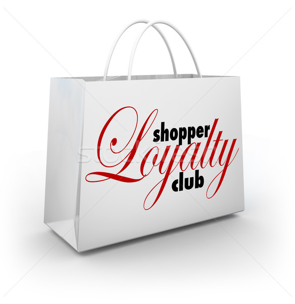 Klant loyaliteit club boodschappentas promotie programma Stockfoto © iqoncept