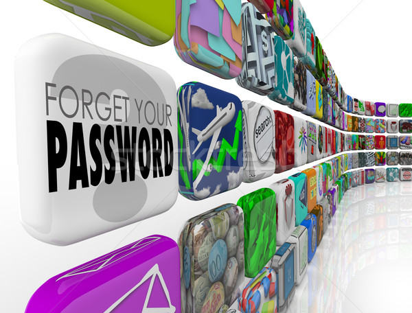 Contraseña software aplicación cuenta programa Internet Foto stock © iqoncept