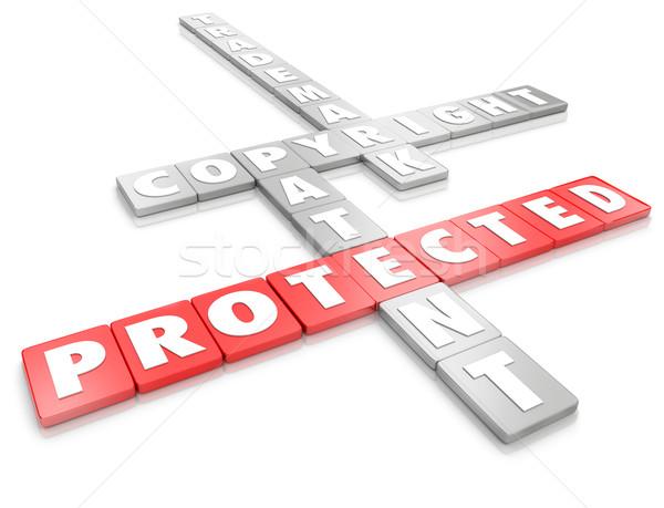 保護された 知的財産 法的 著作権 商標 特許 ストックフォト © iqoncept
