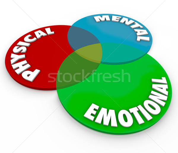 Physical Mental Emotional Well Being Health Total Mind Body Soul Stock photo © iqoncept