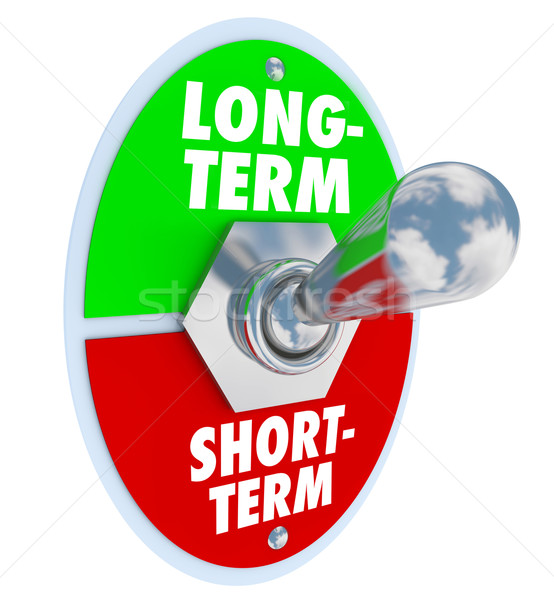 Long Vs Short Term Toggle Switch More Time Investment Stock photo © iqoncept